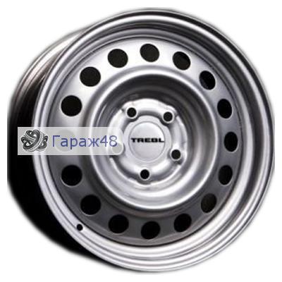 Trebl 64G48L R15 / 6J PCD 5x139.7 ET 48 ЦО 98.6 Штампованные Серебристый